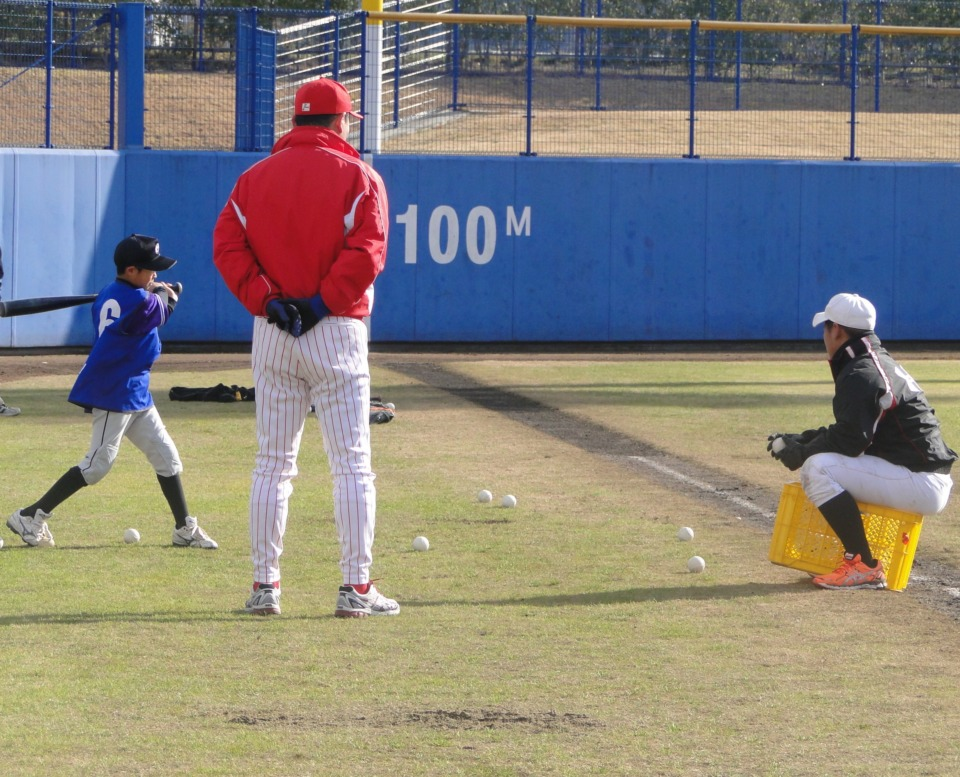 広島東洋カープOB野球教室